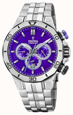 Festina Tour Of Britain 2019 | Stainless Steel  | Blue Dial | F20448/D