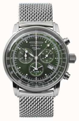Zeppelin | Series 100 Years | Chronograph Date | Steel Mesh | 8680M-4