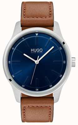 HUGO #dare | Brown Leather Strap | Blue Dial 1530029