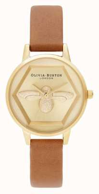 Olivia Burton | 3D Bee Charity Watch | Honey Tan Vegan Strap | OB16AM167