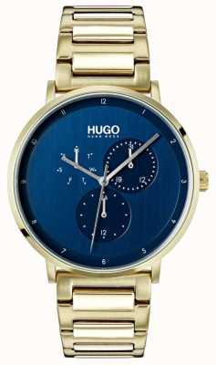 HUGO #guide | Gold IP Bracelet | Blue Dial 1530011