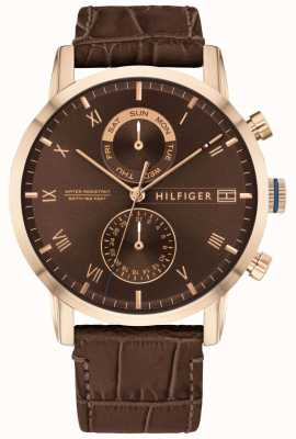 Tommy Hilfiger | Men's Brown Leather Strap | Brown Dial | 1710400