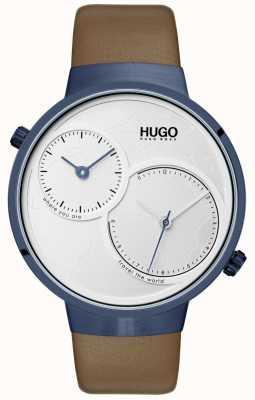HUGO #travel | Brown Leather Strap | White Dial 1530054