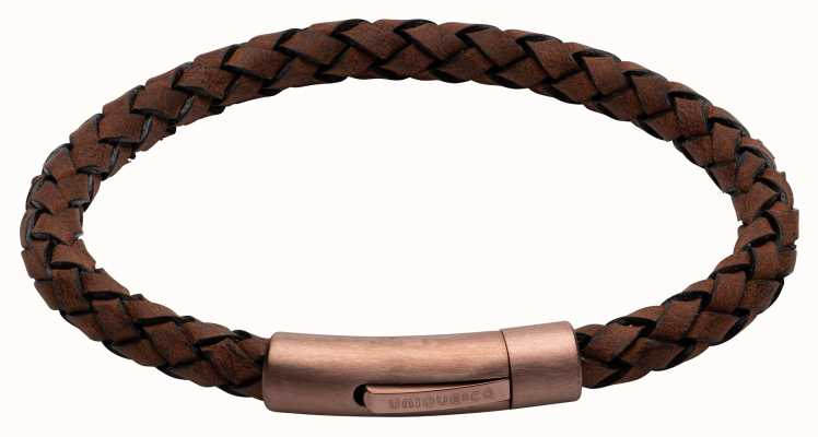 Unique & Co Dark Brown Leather | Matte Brown IP Clasp | Bracelet B441DB/21CM