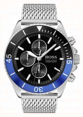 Boss | Men's Ocean Edition | Steel Mesh Bracelet | Black Dial | 1513742