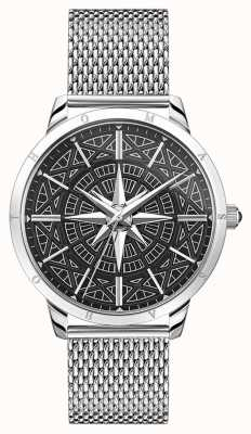Thomas Sabo | Men's Rebel Spirit Compass | Stainless Mesh Bracelet | WA0349-201-203-42