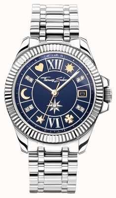 Thomas Sabo | Women's Lucky Charm | Blue Dial | Stainless Steel Bracelet WA0354-201-209-33