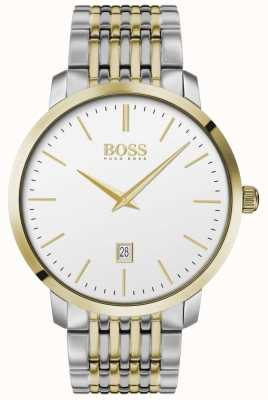 Boss   Men's   Premium Classic   Two Tone   Silver Dial   1513747