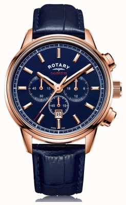Rotary | Men's Cambridge Chronograph | Blue Dial | Blue Leather | GS05399/05