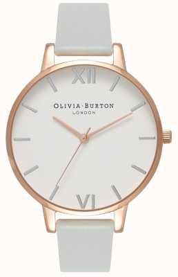 Olivia Burton | Womens | Big Dial | Grey Vegan Strap | OB16BDV02