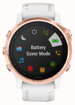 Garmin Fenix 6S Pro | Multisport Smartwatch | Rose Gold White Strap 010-02159-11