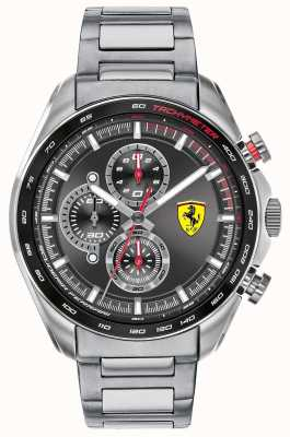 Scuderia Ferrari | Men's Speed-Racer | Stainless Steel Bracelet | Black Dial 0830652
