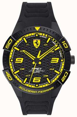 Scuderia Ferrari | Men's Apex | Black Rubber Strap | Black/Yellow Dial | 0830663
