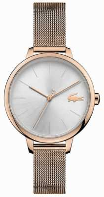 Lacoste | Women's Cannes | Champagne Mesh Bracelet | Silver Dial | 2001103