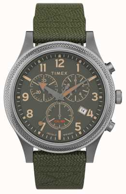 Timex | Allied LT Chrono 40mm | Green Fabric Strap | Green Dial | TW2T75800