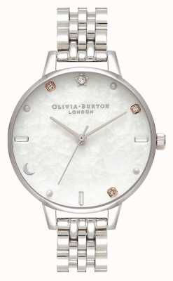 Olivia Burton | Celestial Star And Moon Silver Bracelet | Mother Of Pearl OB16GD30