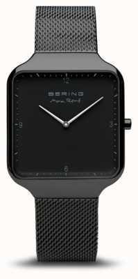 Bering | Max René | Black Steel Mesh Bracelet |Black Dial | 15836-123