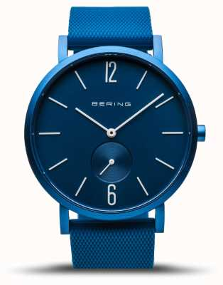 Bering | True Aurora | Blue Rubber Strap | Blue Dial | 16940-799
