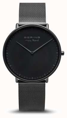 Bering | Max René | Men's Mat Black | Black Steel Bracelet | 15738-123