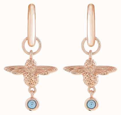 Olivia Burton | Mum To Bee | Huggie Hoop | Blue And Rose Gold | Earrings | OBJAME147