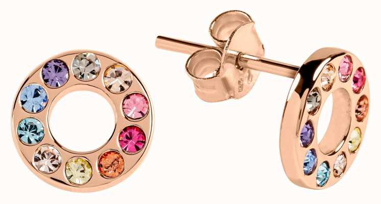 Radley Jewellery Radley Rocks | Rose Gold Plated Multicoloured Stone Earrings RYJ1110