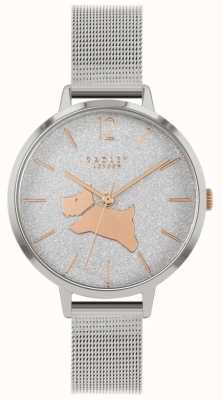 Radley Angel Walk | Silver Mesh Bracelet | Glitter Dial | RY4403