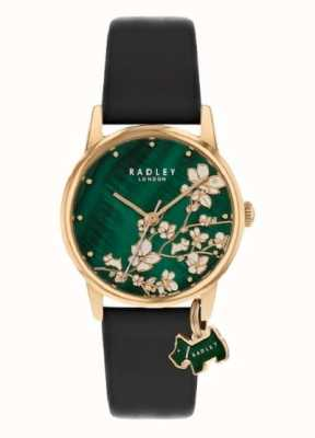 Radley Botanical Floral | Navy Leather Strap | Green Floral Dial | RY2882