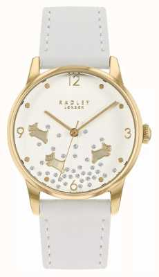 Radley Ditsy Dog Glitter | White Leather Strap | White Glitter Dial RY2892