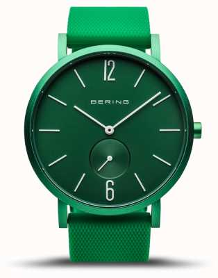 Bering | True Aurora | Green Rubber Strap | Green Dial | 16940-899
