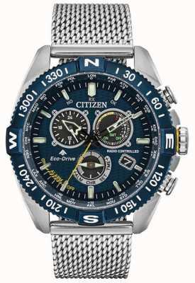 Citizen Men's Navihawk A-T Promaster Stainless-steel Blue Dial Watch CB5846-52L