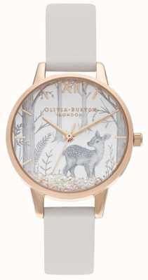 Olivia Burton | Vegan Blush | Snowglobe Dial | Blush Leather Strap | OB16SG11