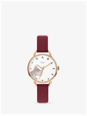 Radley | Women's Wood Street | Merlot Leather Strap |White Dog Dial RY2874
