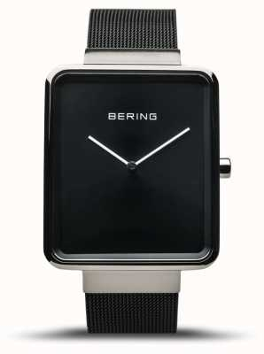 Bering | Men's Classic | Black Mesh Bracelet | Black Dial | 14533-102