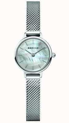 Bering | Women's Classic | Steel Mesh Bracelet | Mother Of Pearl 11022-004