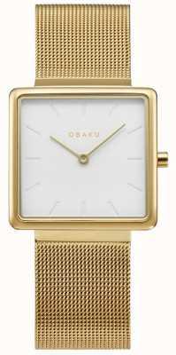 Obaku   Women's Kvadrat Gold   Gold Mesh Bracelet   White Dial   V236LXGIMG