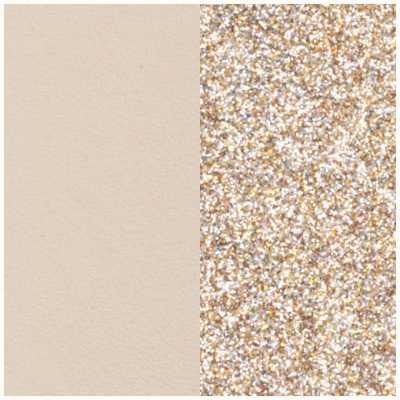 Les Georgettes 14mm Leather Insert | Cream/Gold Glitter 702145899C4000