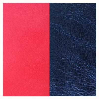 Les Georgettes 25mm Leather Insert | Coral/Metallic Navy Blue 702755199BG000