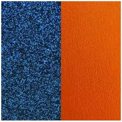 Les Georgettes 14mm Leather Insert | Blue Glitter/Apricot 702145899CF000