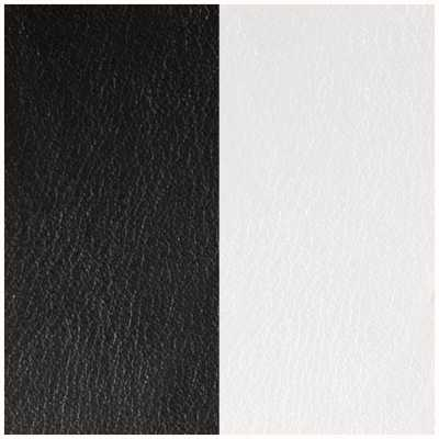 Les Georgettes 14mm Leather Insert | Black/White 702145899M4000