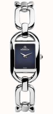 Michel Herbelin Womens Kyudo Blue Dial Stainless Steel Bracelet 17471/B05
