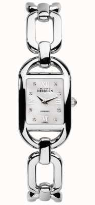 Michel Herbelin Womens Kyudo Diamond and MOP Dial Stainless Steel Bracelet 17471/B89