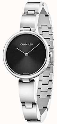 Calvin Klein   Women's Stainless Steel Bracelet   Black Dial   K9U23141
