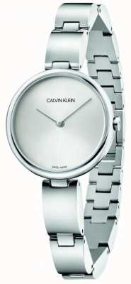 Calvin Klein   Women's Stainless Steel Bracelet   Silver Dial   K9U23146
