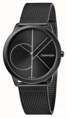 Calvin Klein | Minimal | Black Steel Mesh Bracelet | Black Dial K3M5145X