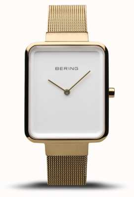 Bering Women's Classic | Polished/Brushed Gold Mesh | White Dial | 14528-334