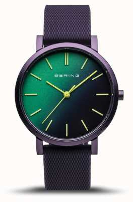 Bering | True Aurora | Purple Rubber Strap | Green Purple Dial | 16934-999