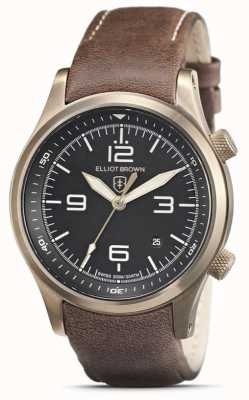 Elliot Brown Mens | Canford | Black Dial | Brown Leather Strap 202-022-L22