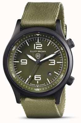 Elliot Brown Mens | Canford | Green Dial | Green Fabric Strap 202-024-N08