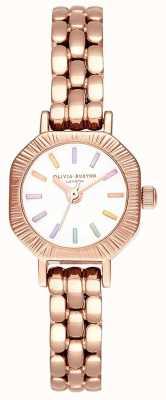 Olivia Burton   Rainbow Pale Rose Gold Bracelet   White Dial   OB16CC50