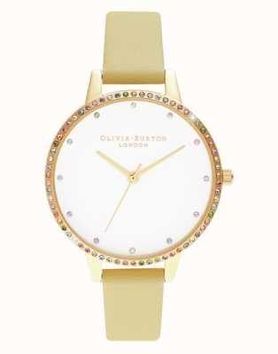 Olivia Burton   Womens   Rainbow Bezel   Sunshine & Gold Bracelet   OB16RB20